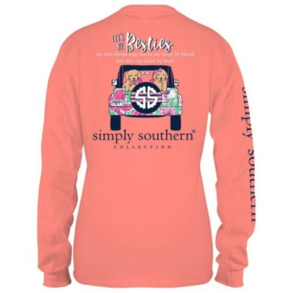 8b93f77859e Simply Southern Long Sleeve Jeep Besties Dog Shirt